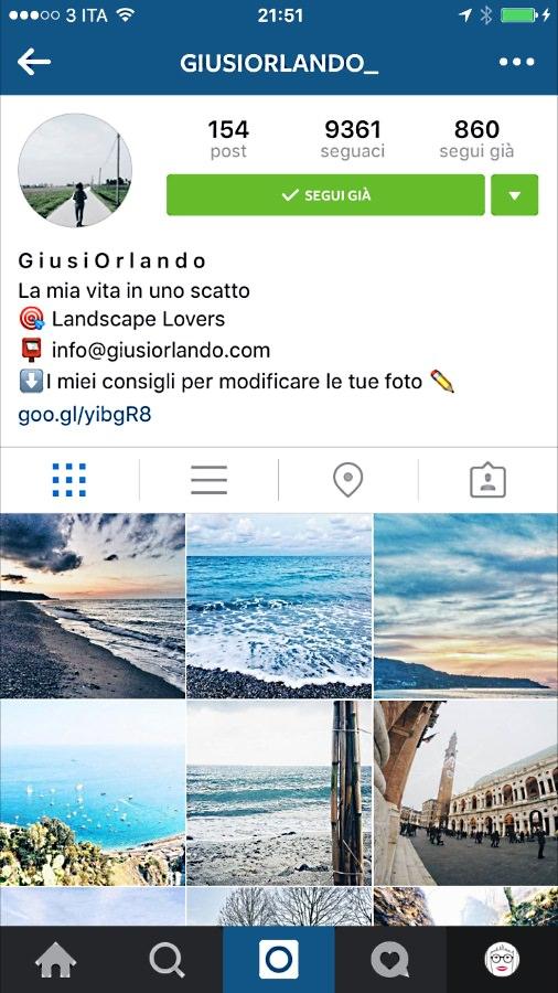 Instagram-profilo