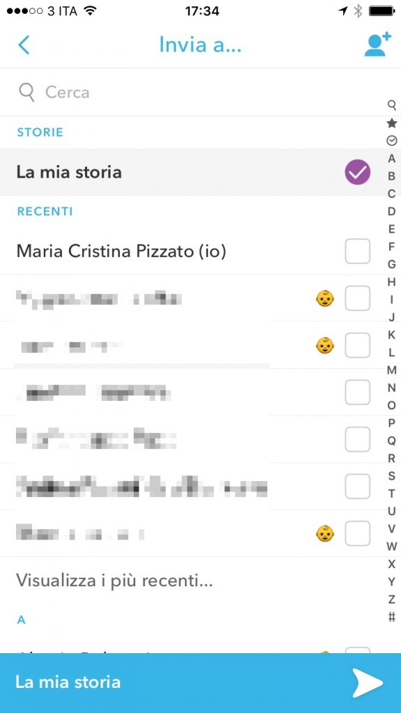 Snapchat-Storia