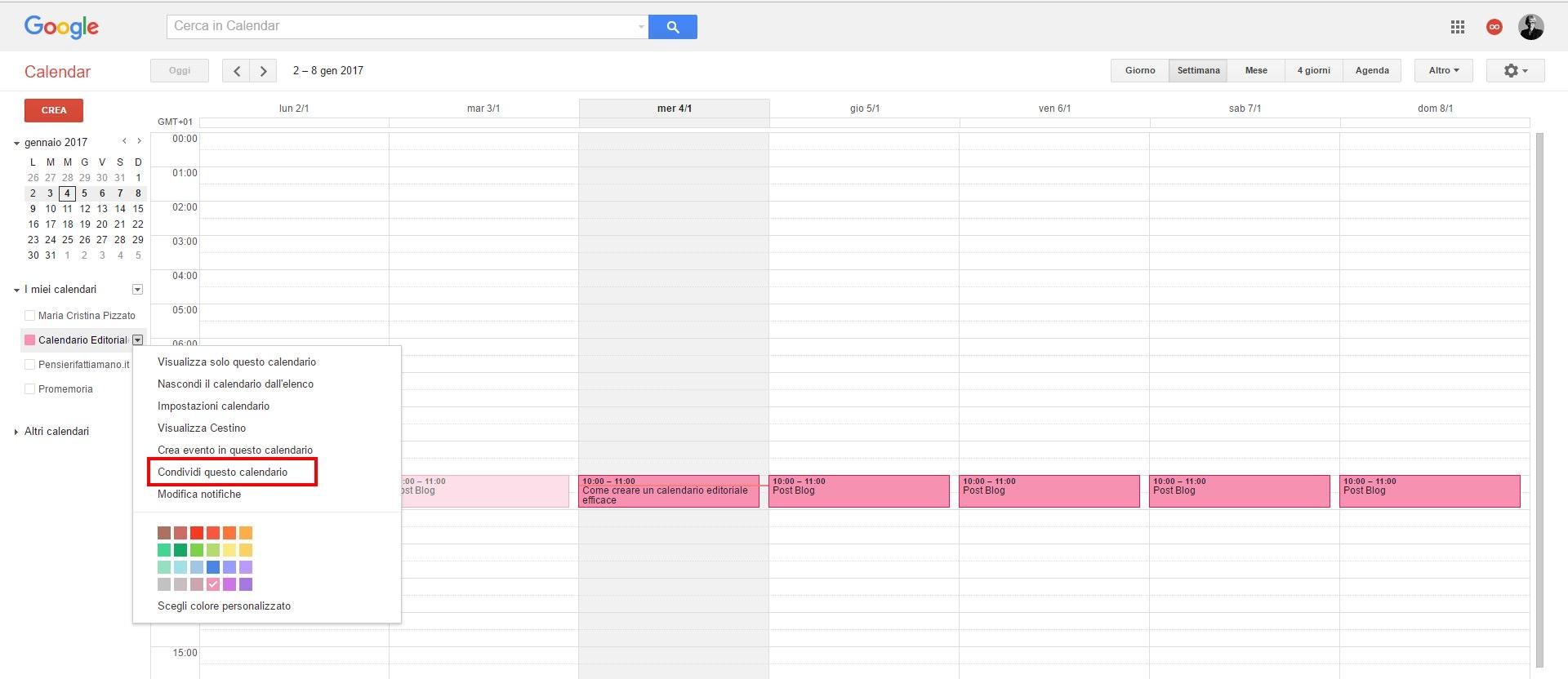 condivisione-CalendarioEditoriale-Google-calendar