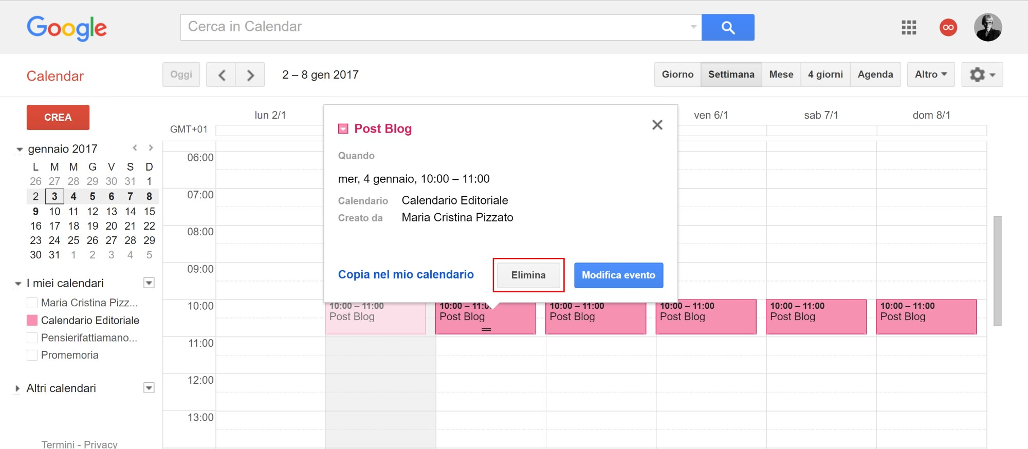 Fare Un Calendario Con Excel.Creare Un Calendario Editoriale Con Google Calendar Free